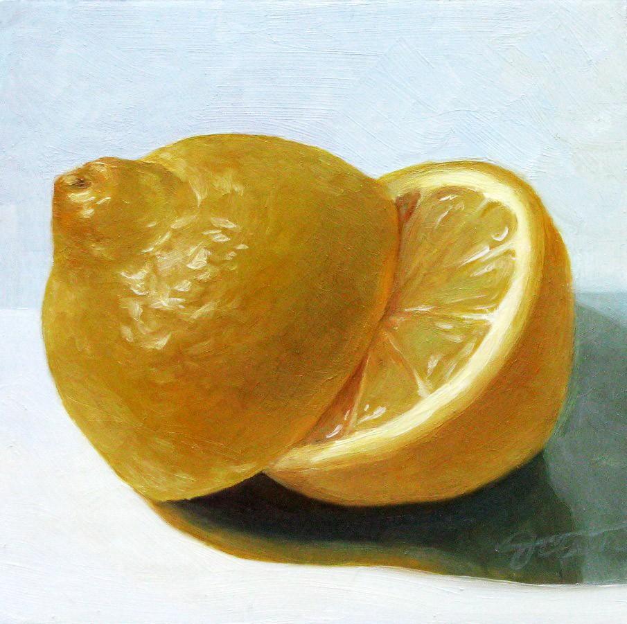 """Lemon"" original fine art by Joanna Bingham"