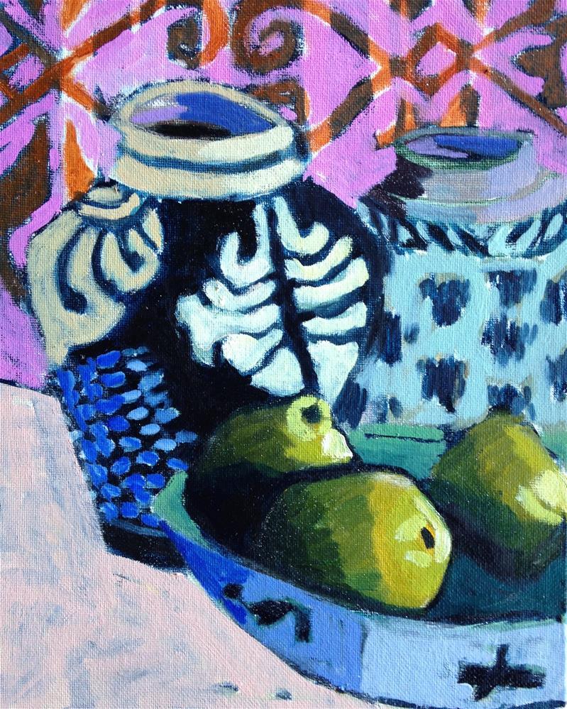 """Gauguin Came To My House"" original fine art by Pamela Hoffmeister"
