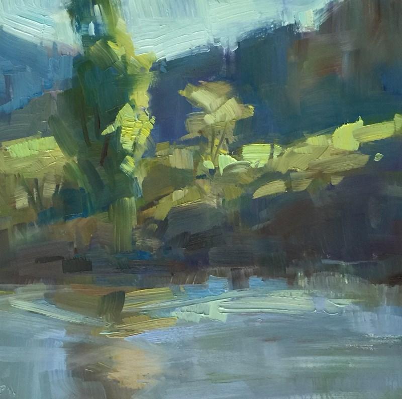 """""""Coquille's Coquettish Light"""" original fine art by Patti McNutt"""