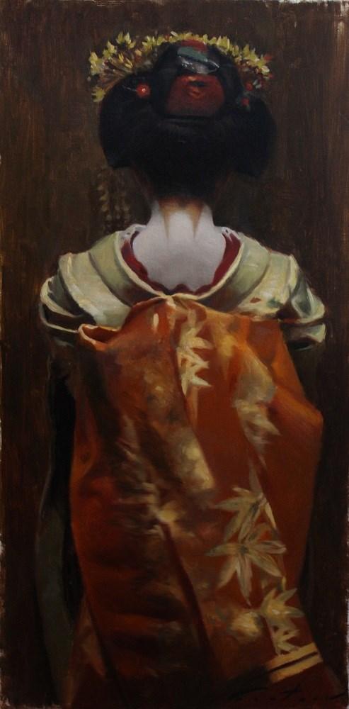 """The Scarlet Fringe (Aki)"" original fine art by Phil Couture"