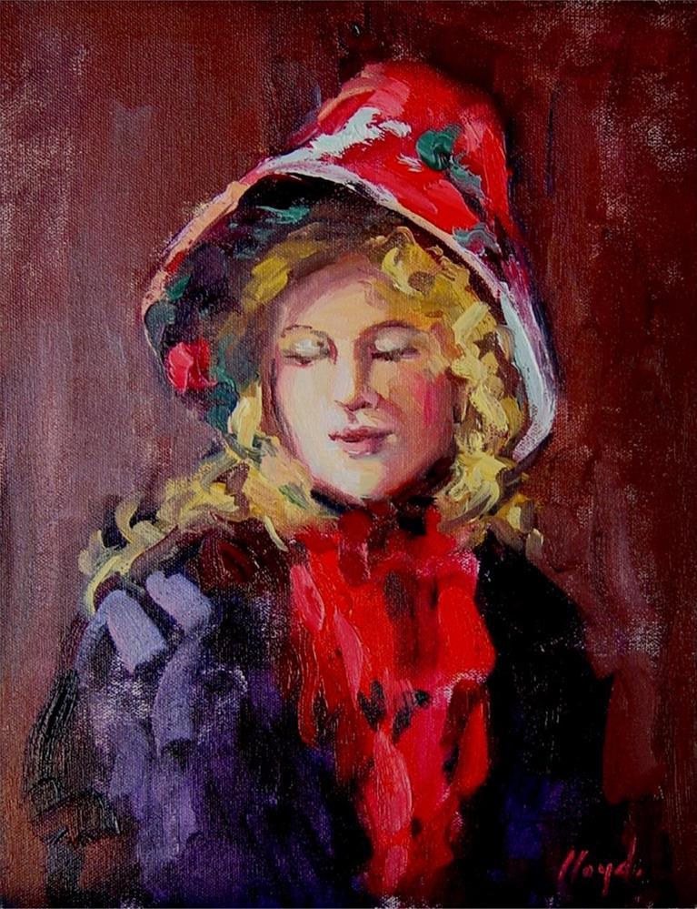"""Red Bonnet"" original fine art by Diane Lloyd"