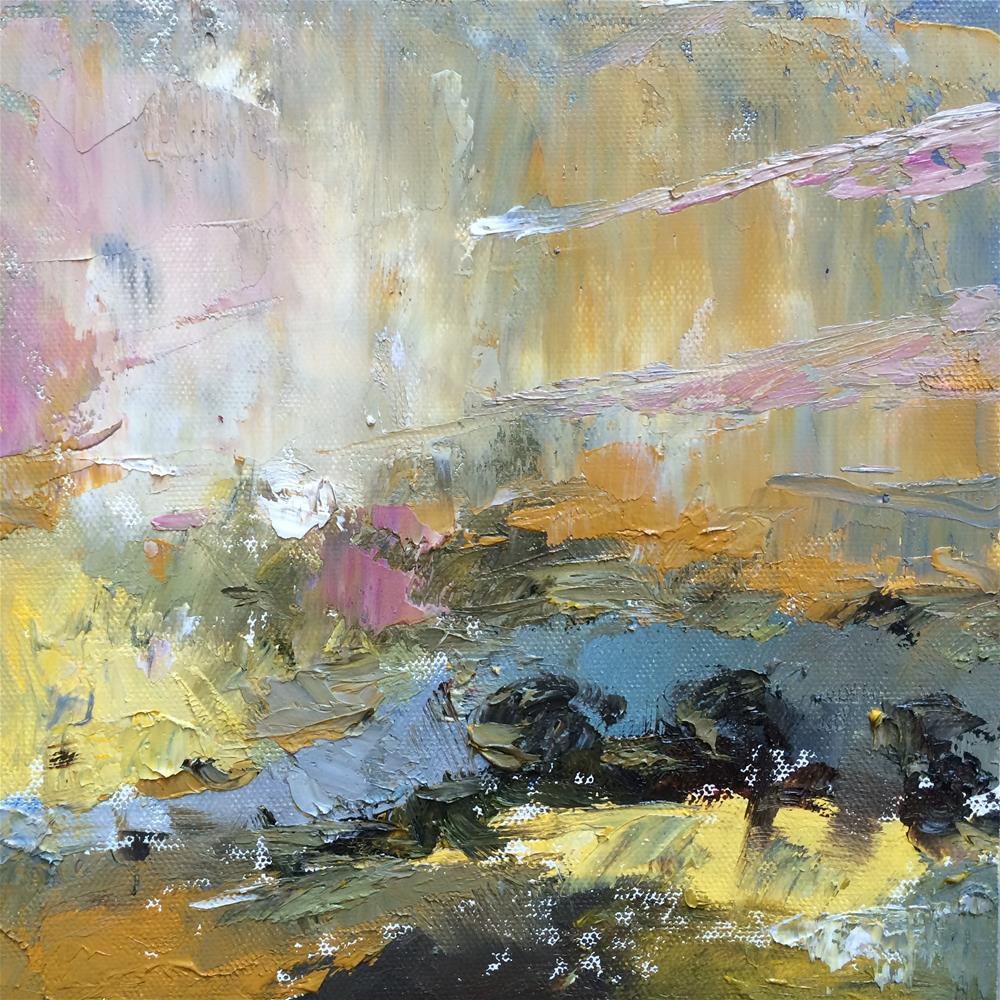 """""""Evening sky"""" original fine art by Anny Kong"""