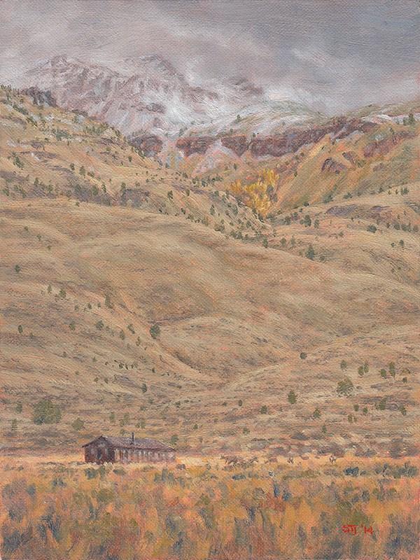 """C1589 Hart Mountain 'CCC' Hut (Hart Mountain National Antelope Refuge, Oregon High Desert)"" original fine art by Steven Thor Johanneson"