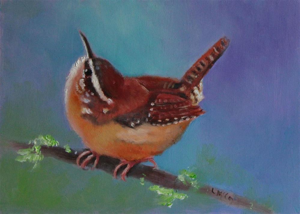 """""""Curious, Carolina Wren"""" original fine art by Linda McCoy"""