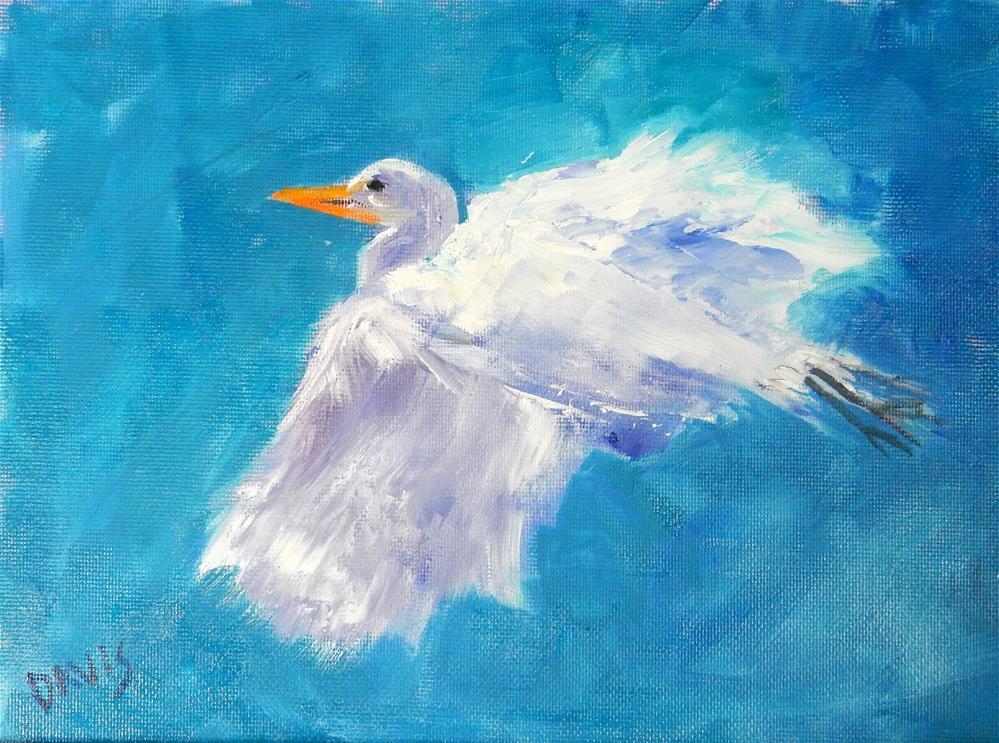 """""""Wild Blue Yonder"""" original fine art by Phyllis Davis"""