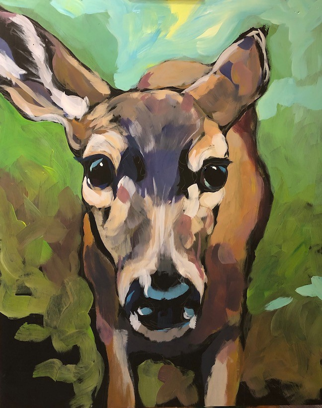 """Doe Eyes"" original fine art by Kat Corrigan"