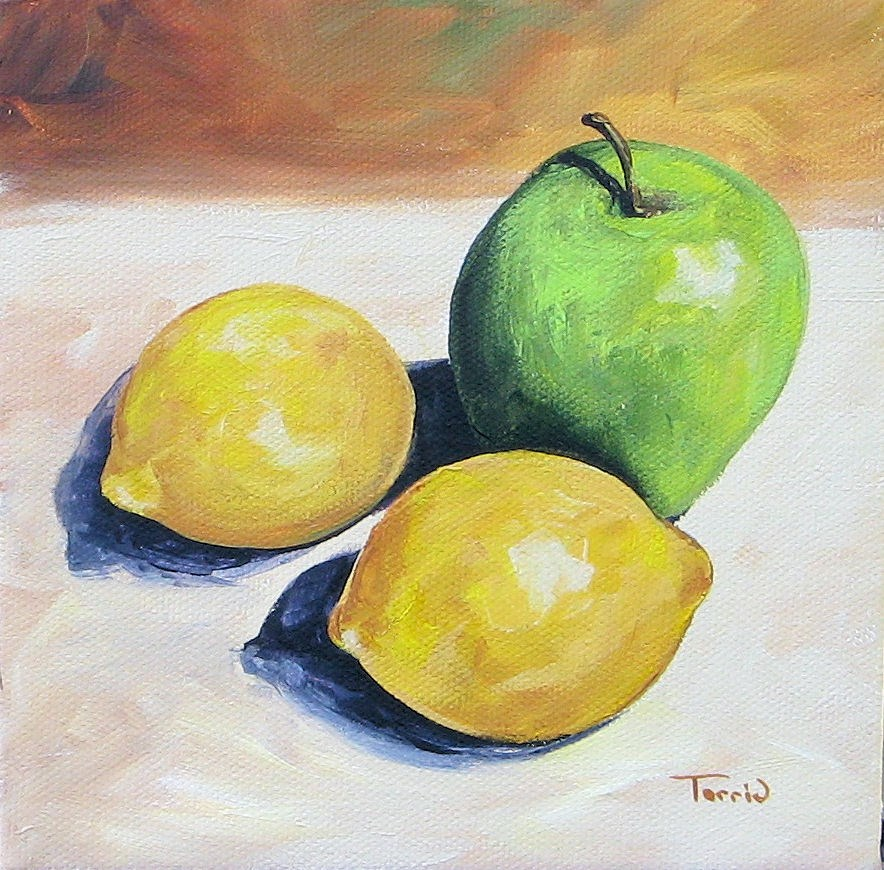 """Apple and Lemons"" original fine art by Torrie Smiley"