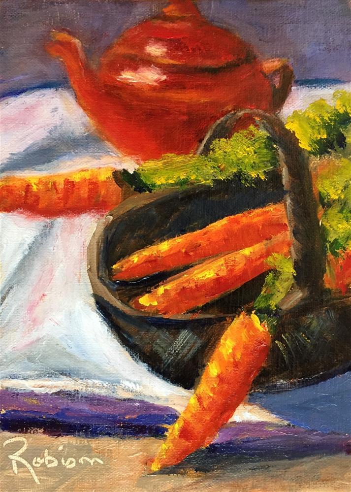 """Carrots, No Peas, Please"" original fine art by Renee Robison"