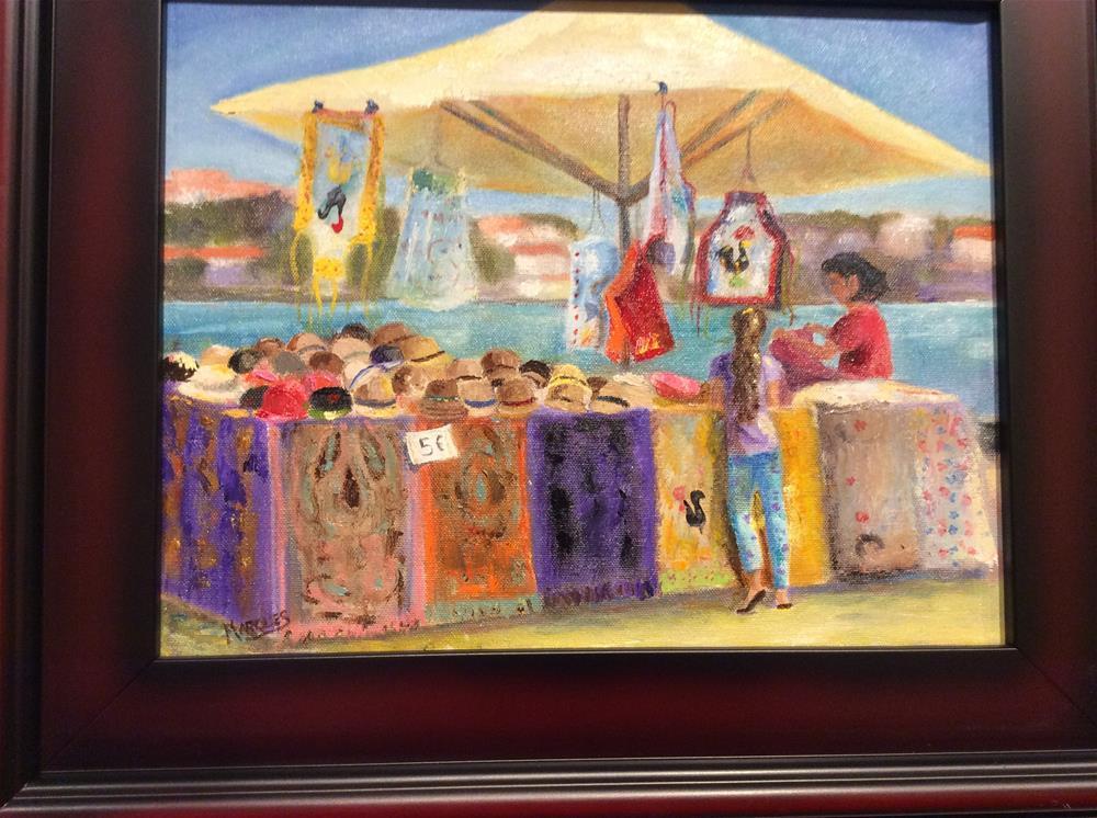 """""""Oporto bazaar"""" original fine art by Kathy Marques"""