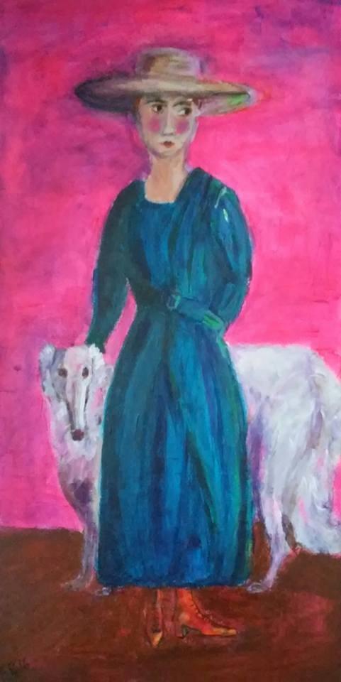 """""""Anita and Rudy"""" original fine art by Hallie Dozier"""
