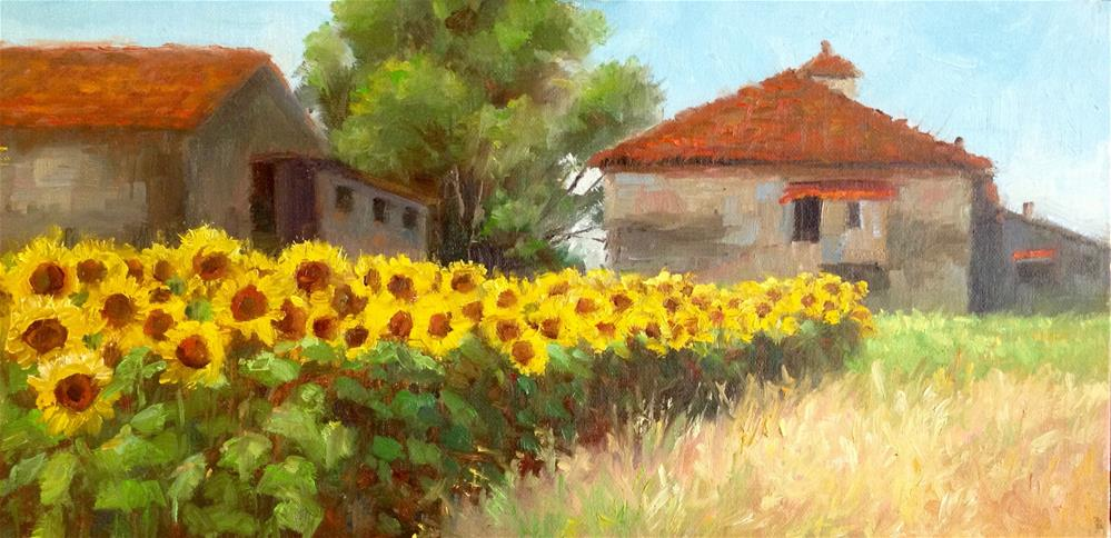 """Sunflower Bounty"" original fine art by Nancy Wahl"