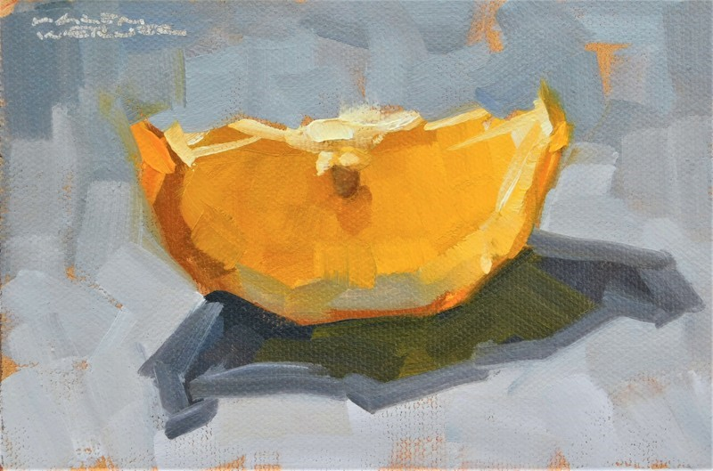 """Lemon Glow"" original fine art by Karen Werner"