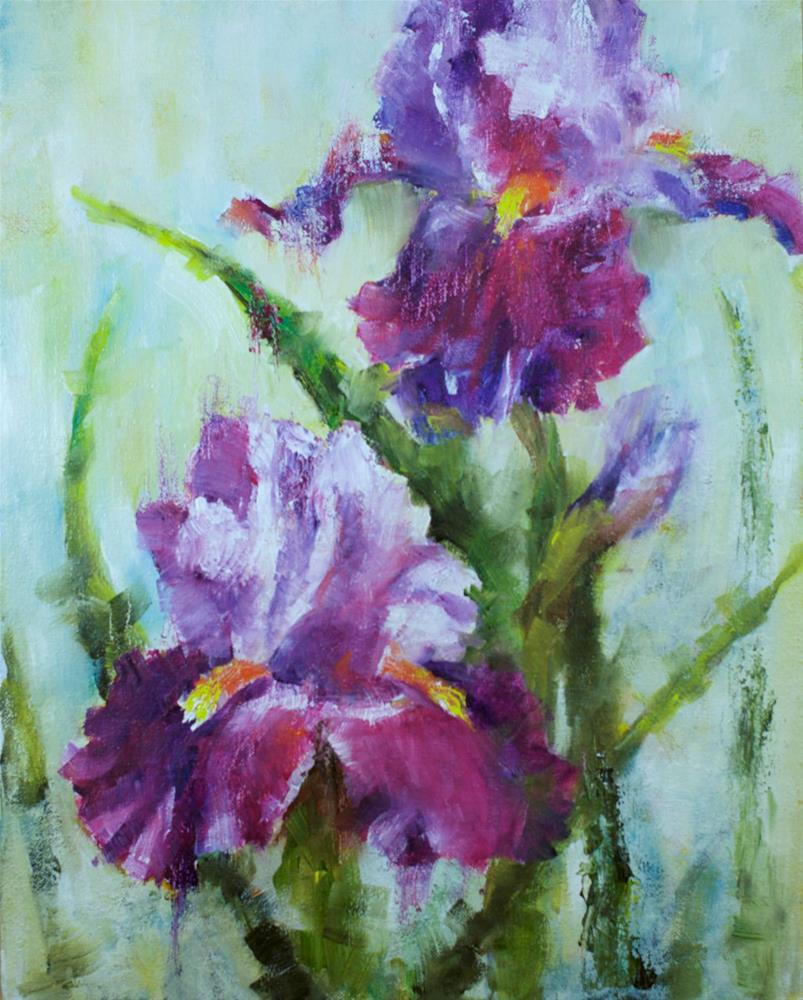 """Irises #1"" original fine art by Sue Churchgrant"