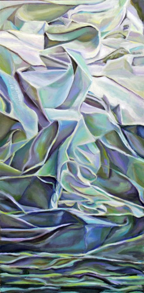 """Waterfall"" original fine art by Cynthia Mahlberg"