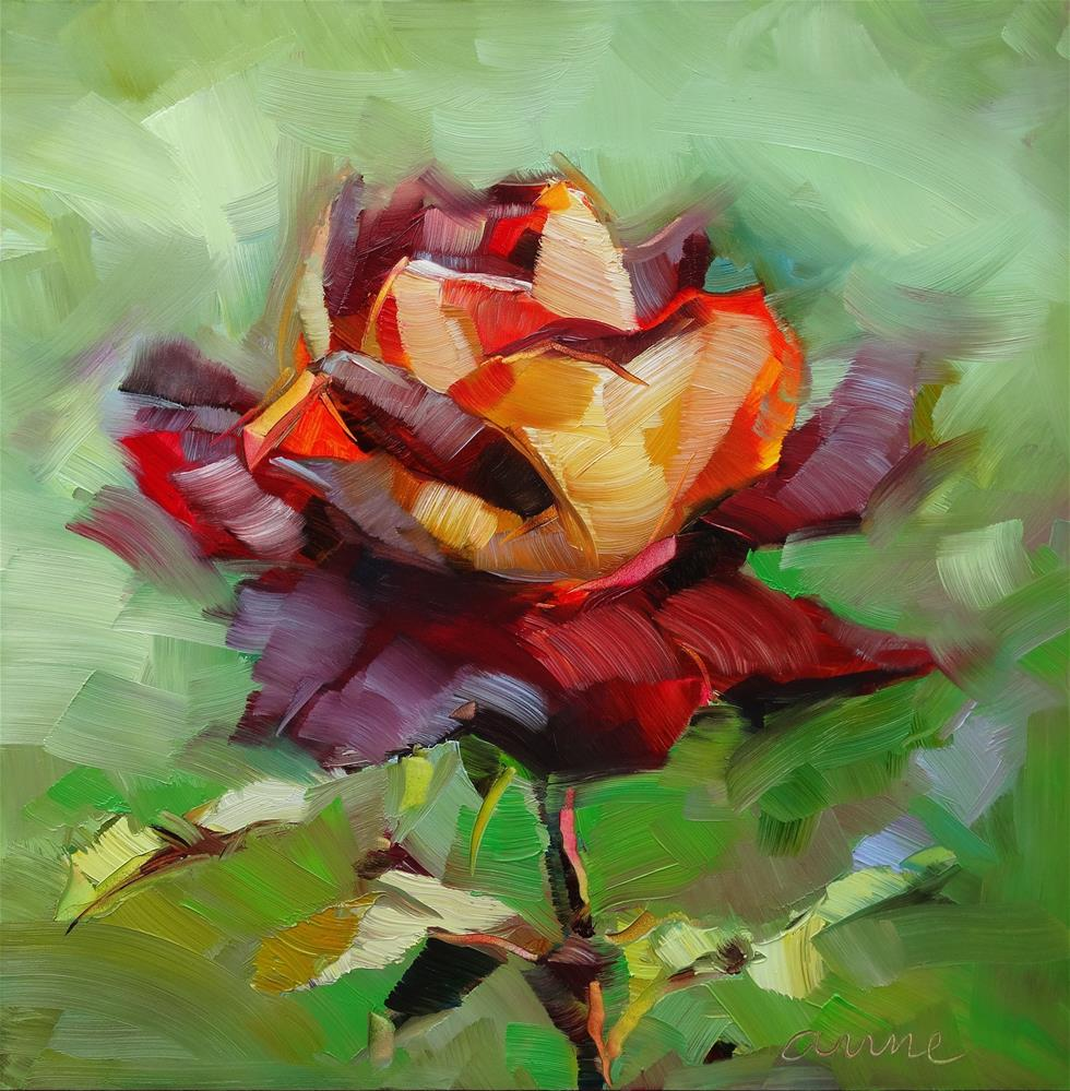 """""""It is madness to hate all roses because you got.."""" original fine art by Anne Ducrot"""