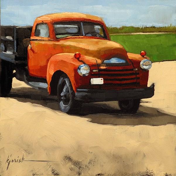 """Lincoln Highway/Big Red, Nebraska"" original fine art by Karin Jurick"