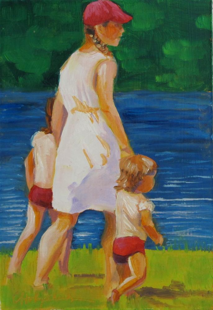 """Taking a Stroll"" original fine art by Christine Holzschuh"