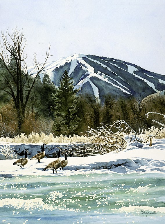 """""""Valley Honkers"""" original fine art by Andy Sewell"""