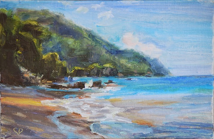 """Day 3 - Somewhere in Paradise"" original fine art by Carol DeMumbrum"