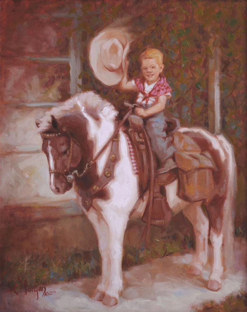 """Neighborhood Pony Memories"" original fine art by Cecile W. Morgan"