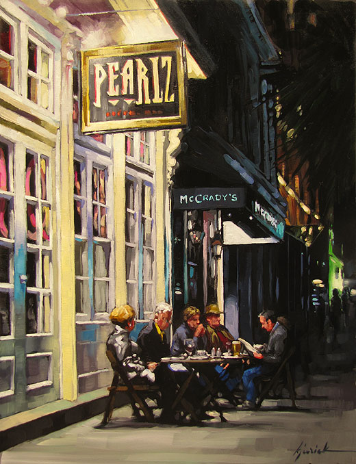 """""""Outdoor Dining"""" original fine art by Karin Jurick"""