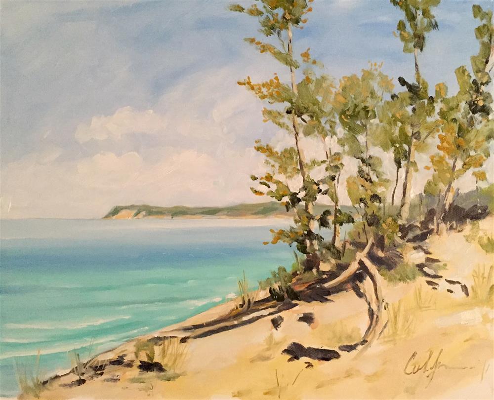 """""""If You Seek a Peninsula – Sleeping Bear Dunes"""" original fine art by Cornelis vanSpronsen"""