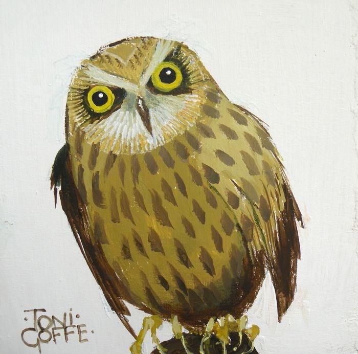 """""""Long Eared Owl"""" original fine art by Toni Goffe"""