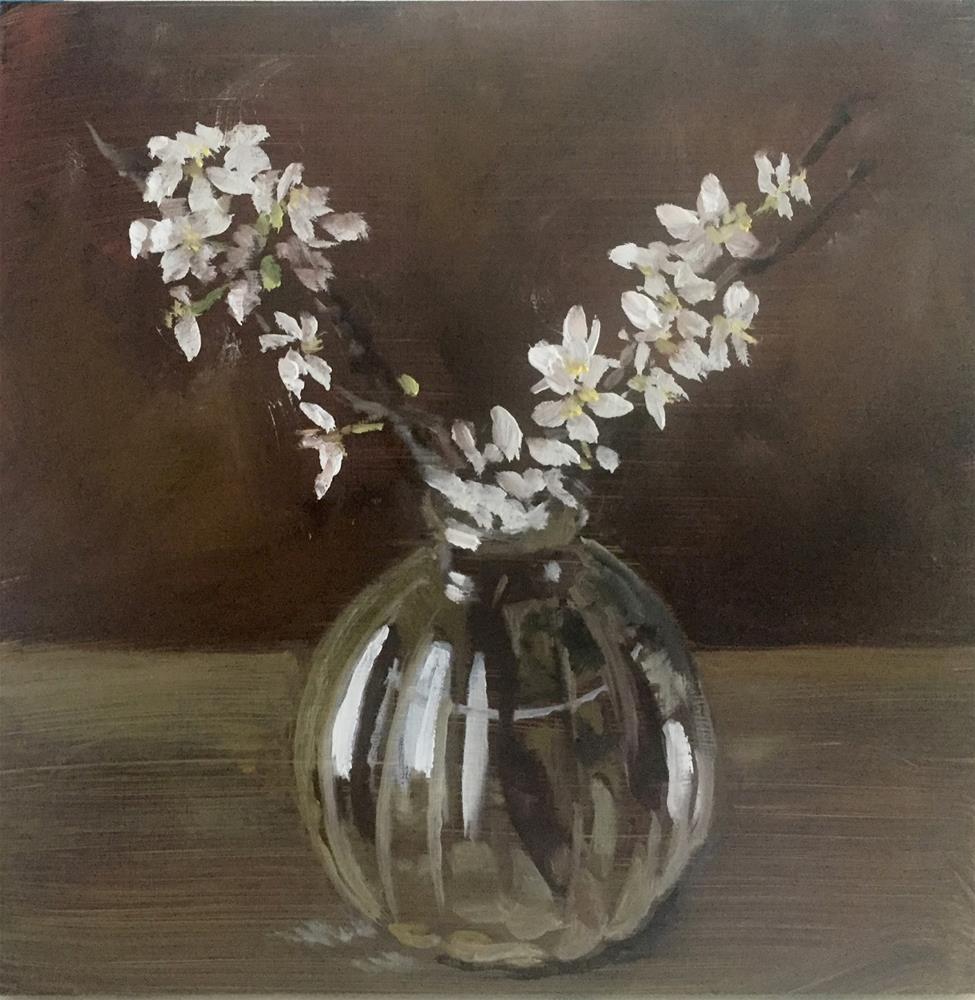 """""""Plum blossom"""" original fine art by Philine van der Vegte"""