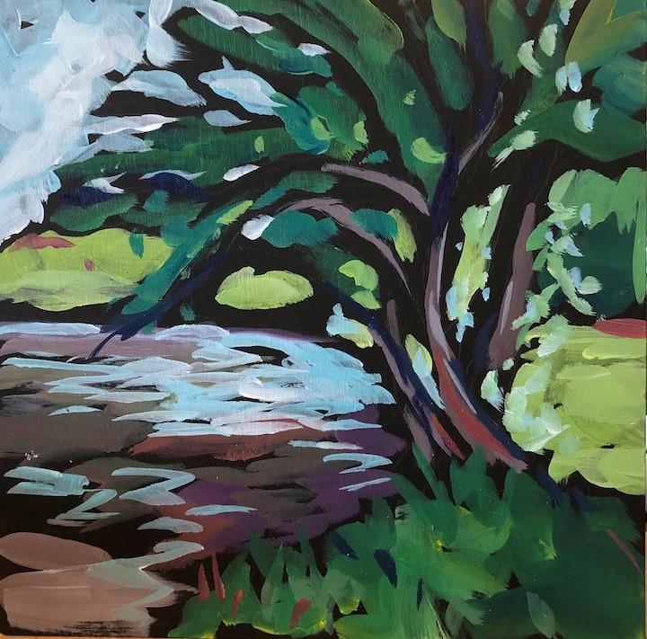"""Nokomis Trees"" original fine art by Kat Corrigan"
