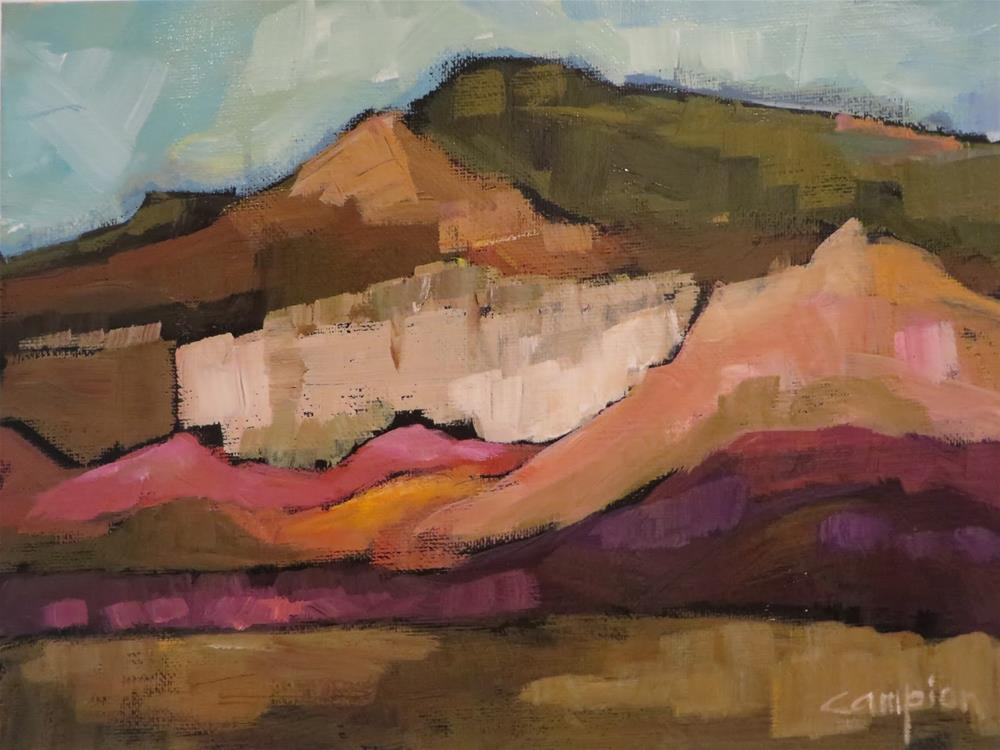 """694 View From Ghost Ranch"" original fine art by Diane Campion"