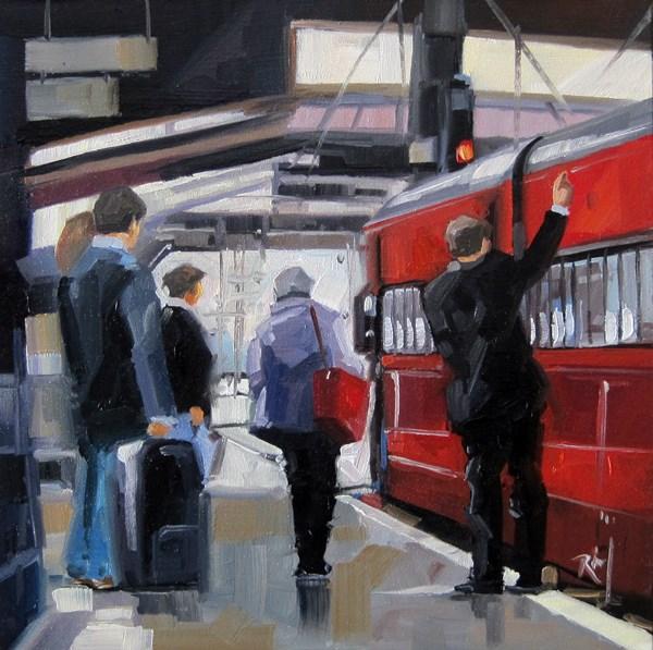 """No 795 Ready to Board"" original fine art by Robin J Mitchell"