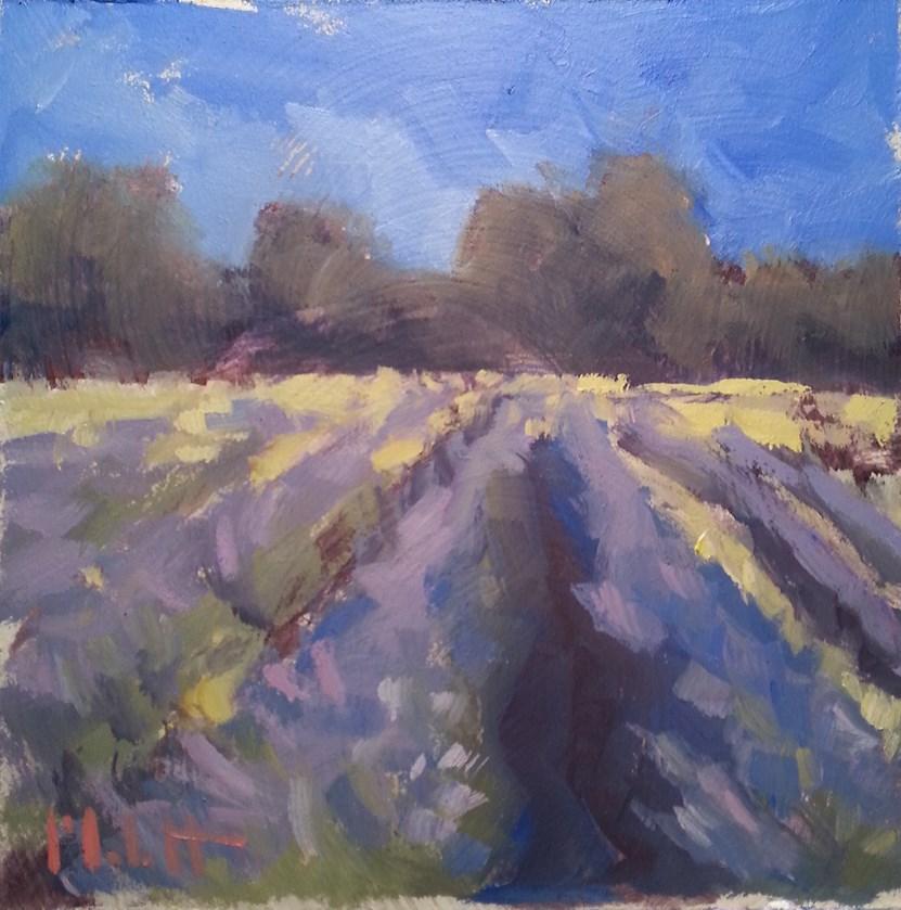 """French Lavender Fields Impressionism Original Oil Painting"" original fine art by Heidi Malott"