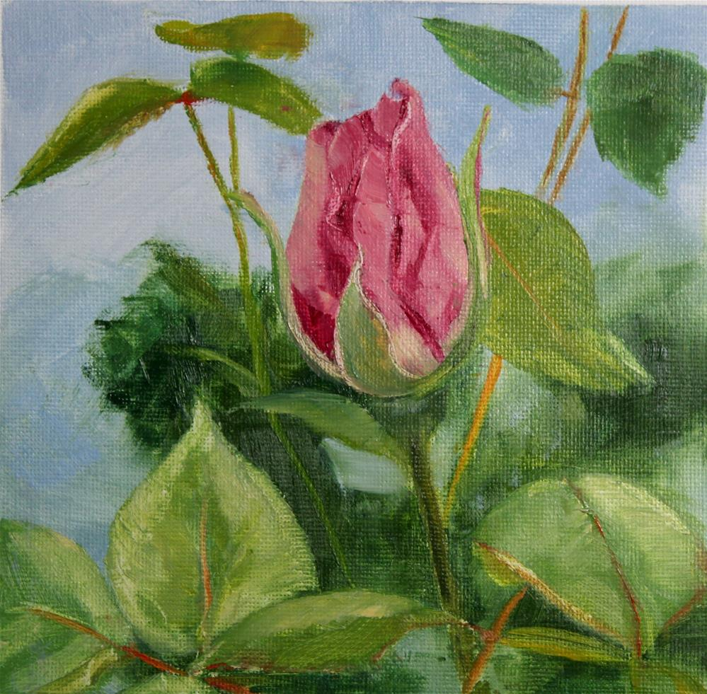 """""""First Rose of Summer"""" original fine art by Maria Reed"""