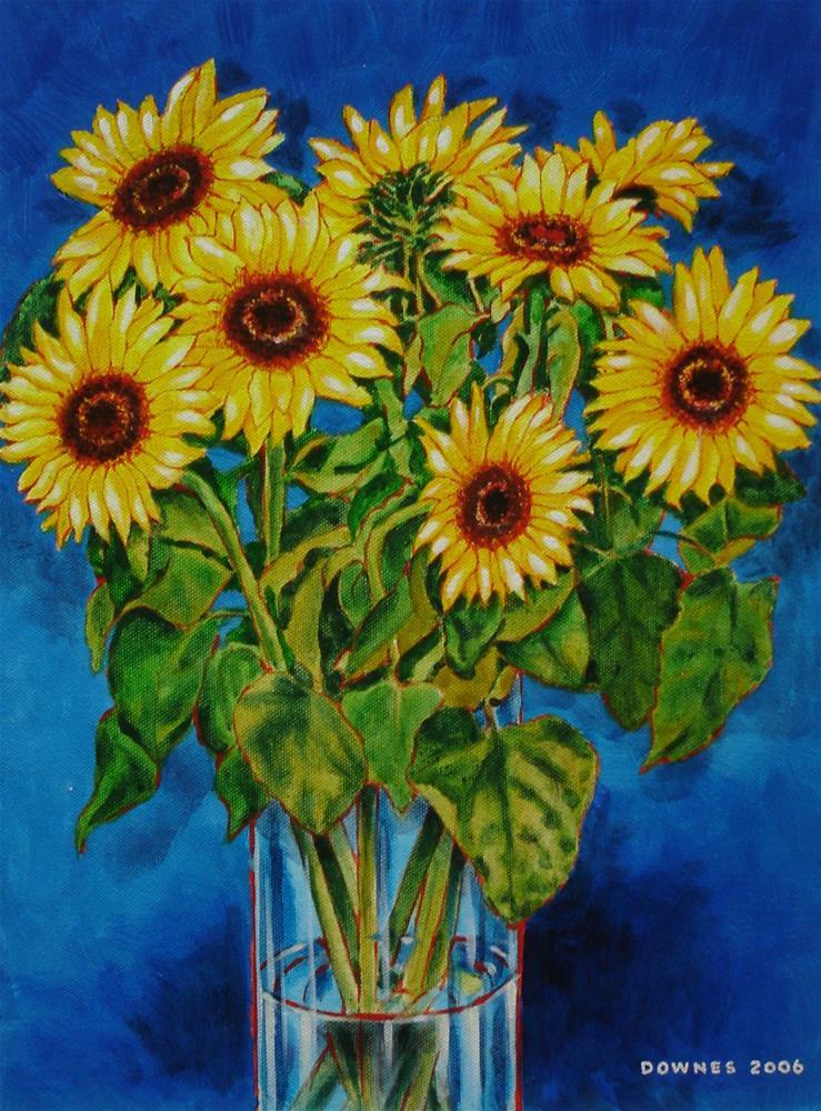 """300 SUNFLOWERS"" original fine art by Trevor Downes"