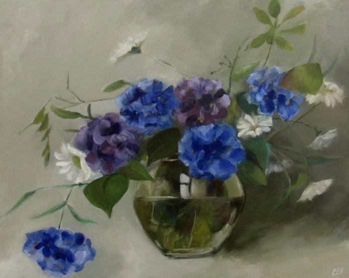 """Hydrangea Bouquet"" original fine art by ~ces~ Christine E. S. Code"
