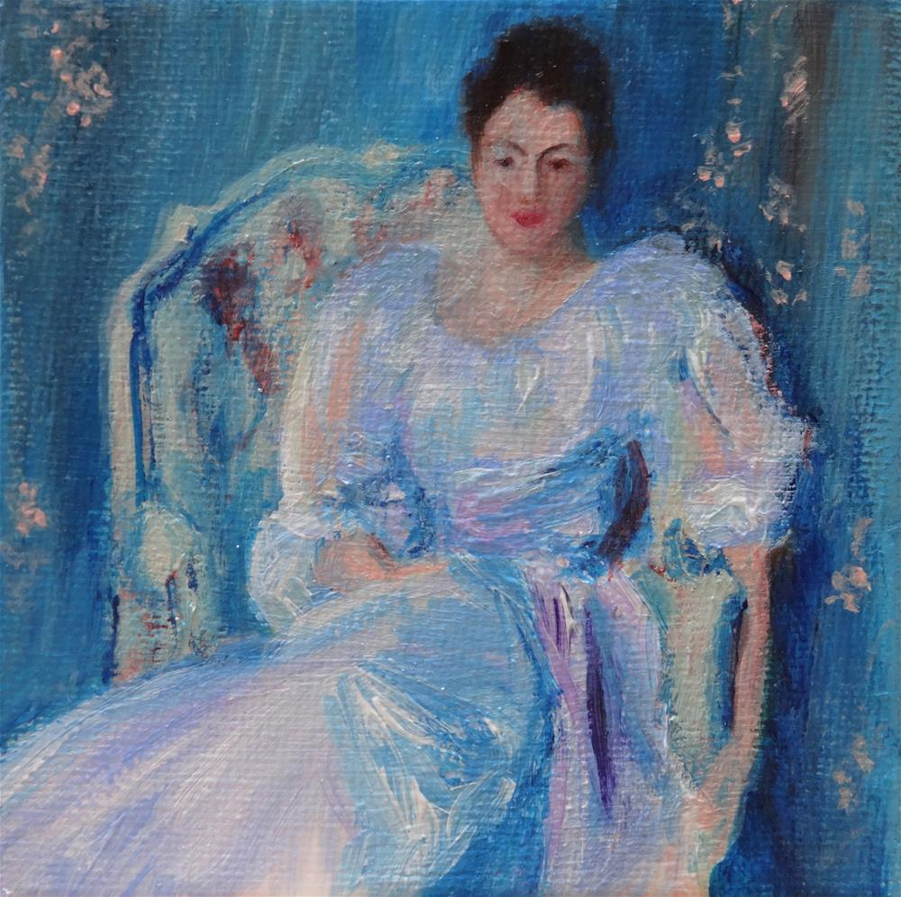 """""""4010 - Lady in Lilac after Sargent - Mini Master Series"""" original fine art by Sea Dean"""