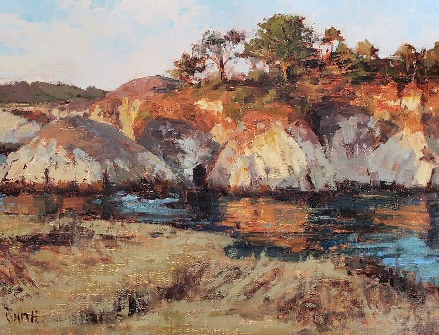 """Point Lobos Golden Light"" original fine art by Barbie Smith"