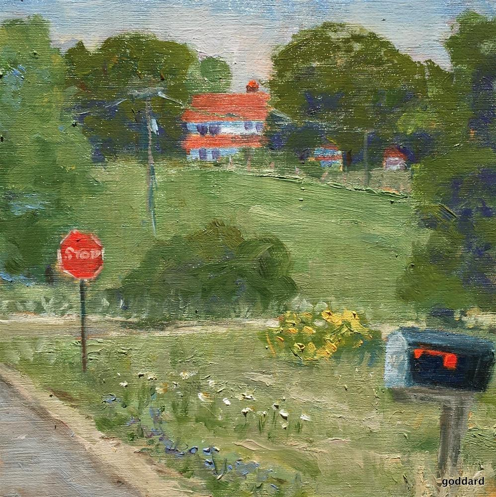 """Stop a While"" original fine art by Shari Goddard Shambaugh"