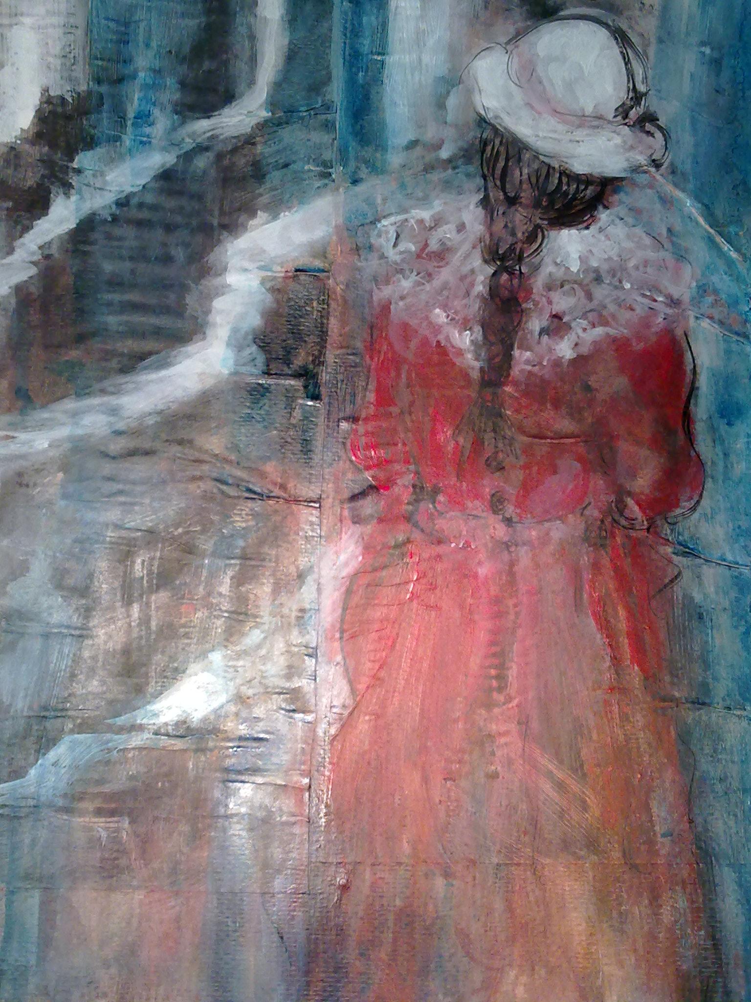 """""""Taking a walk"""" original fine art by Monica Pinotti"""