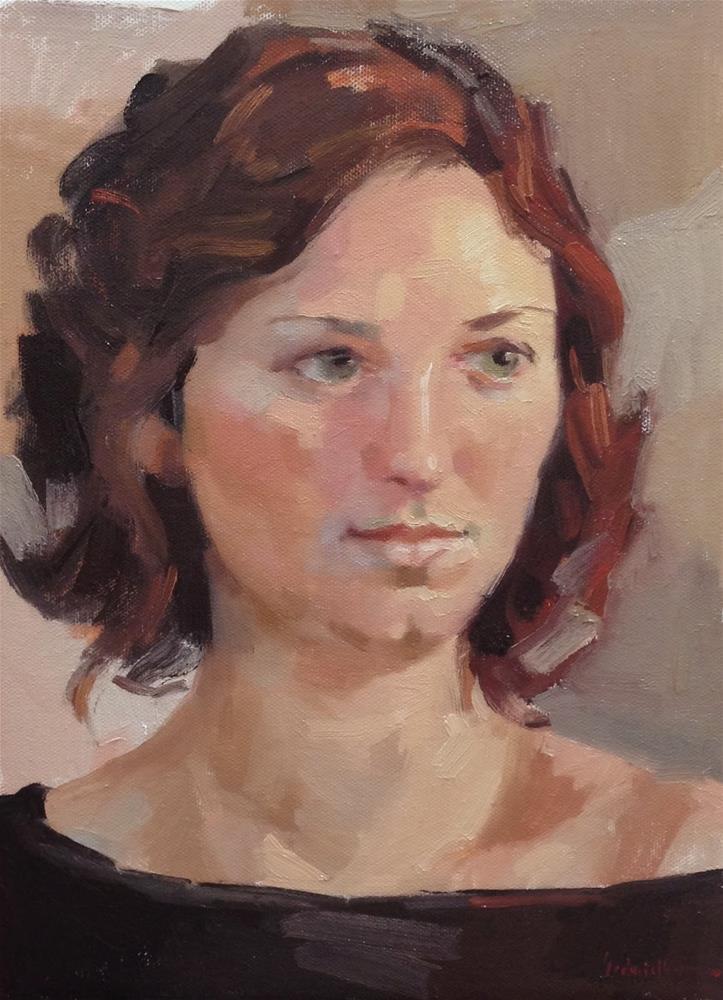 """""""Exploring the Zorn Palette Portrait"""" original fine art by Sarah Sedwick"""
