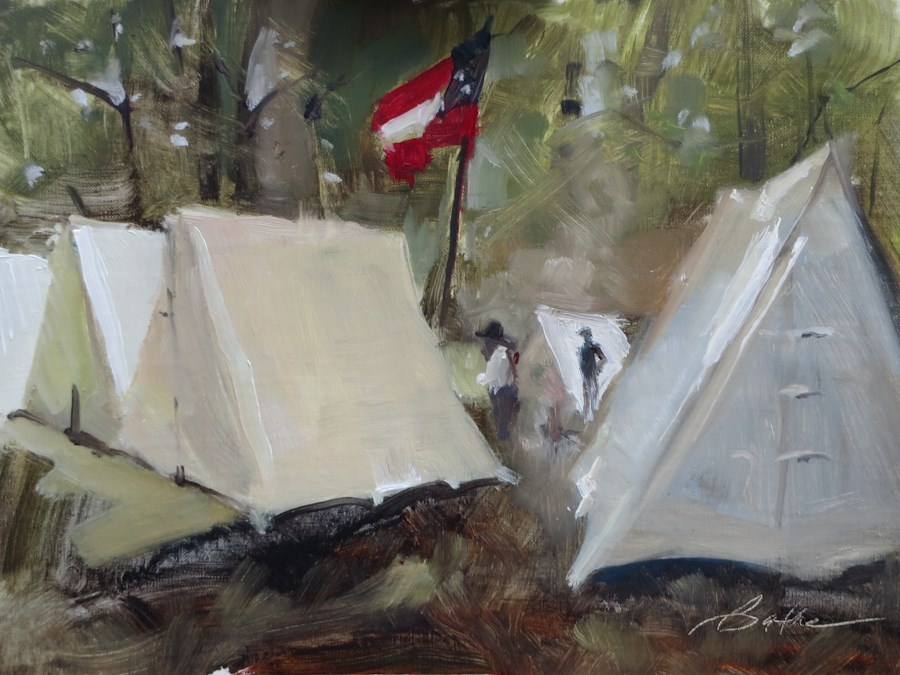 """1st Carolina at Gettysburg"" original fine art by Beth Bathe"