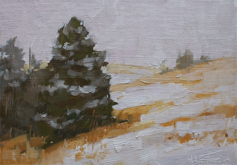 """Snow Patterns"" original fine art by Melanie Thompson"