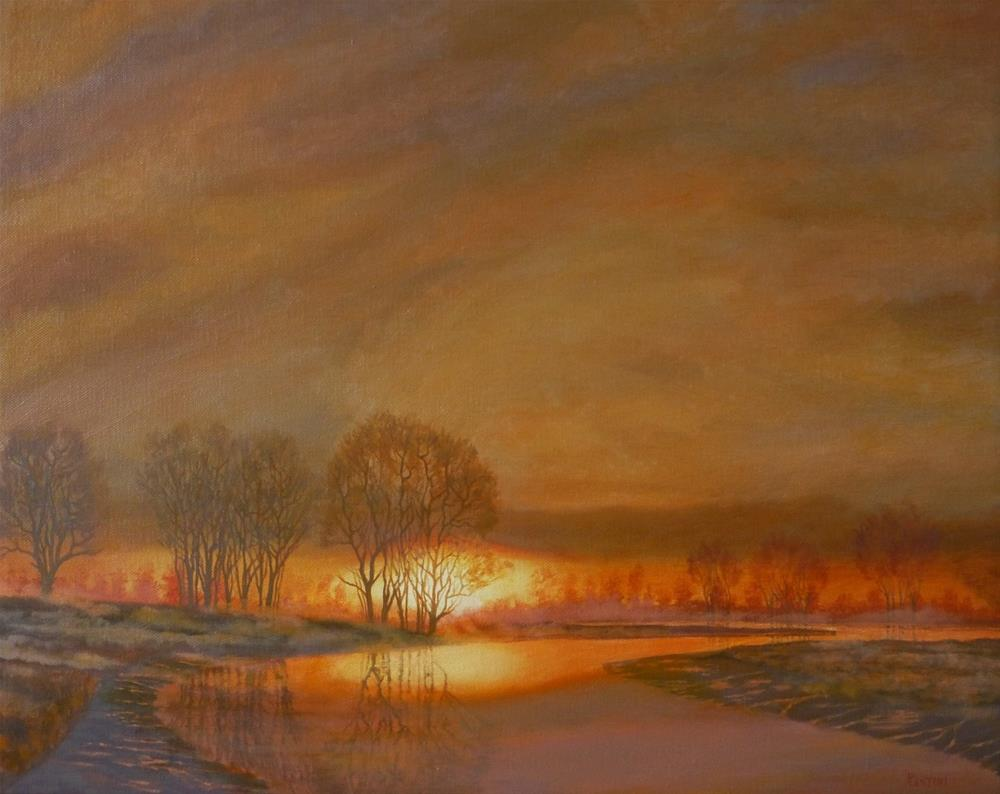 """""""With the Sun and the Mist Rising"""" original fine art by Peter Lentini"""