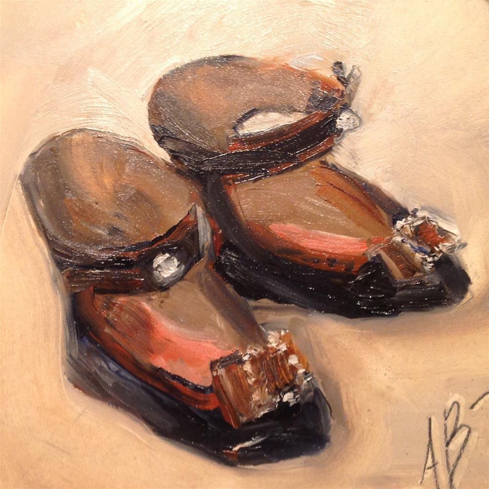 """Vintage doll shoes"" original fine art by Annette Balesteri"