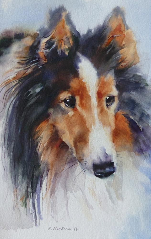 """adopt185 - Shelby"" original fine art by Katya Minkina"