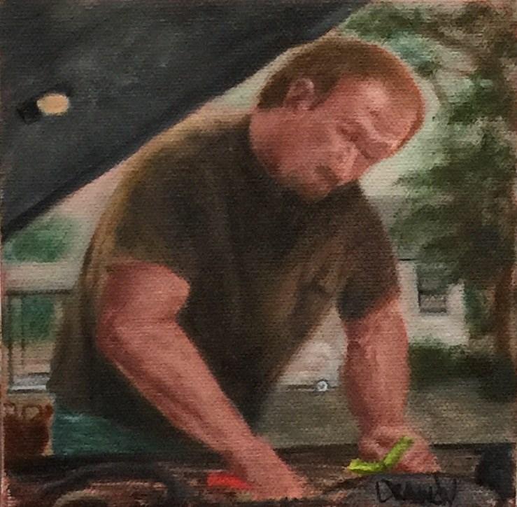 """""""Oil Change"""" original fine art by Stephanie Drawdy"""