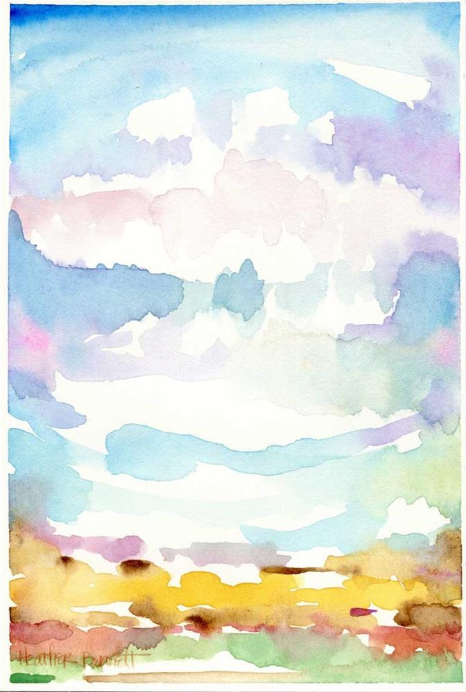 """Land and Sky No. 002"" original fine art by Heather Bennett"