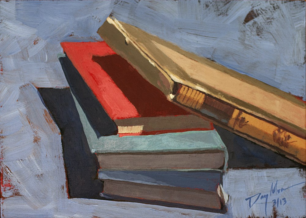 """Well Read, Well Worn"" original fine art by Mike Daymon"