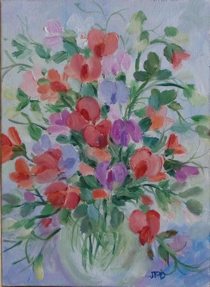 """""""Sweet Peas"""" original fine art by Jean Pierre DeBernay"""