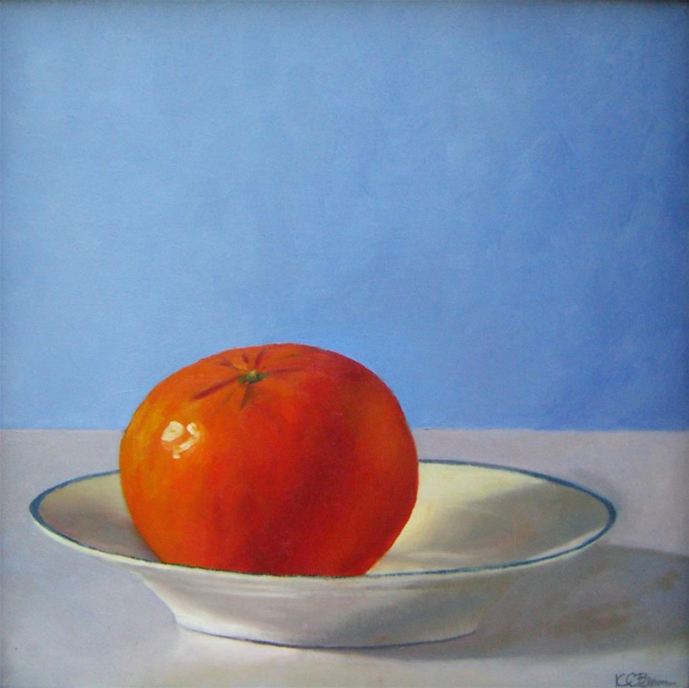 """Tangerine"" original fine art by Kathy Broyles"